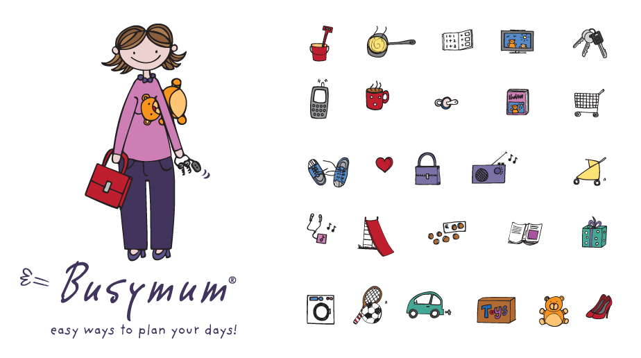 Busymum Logo & Icons