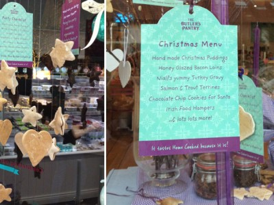 The Butler's Pantry Christmas Window Display