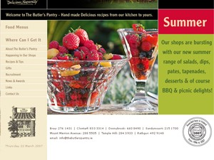 The Butler's Pantry website