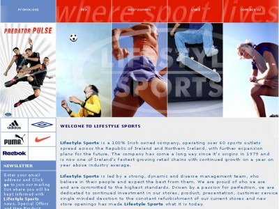 Lifestyle Sports Website